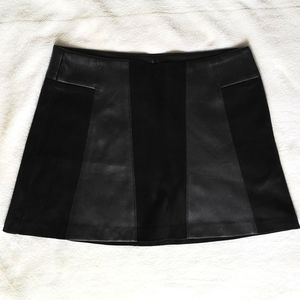 Zara faux leather/suede skirt